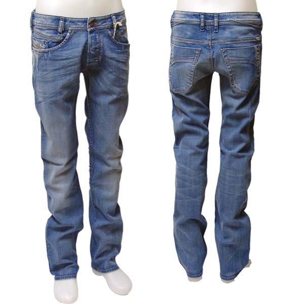 herren diesel jeans iakop wash 8w7 008w7 mittelblau. Black Bedroom Furniture Sets. Home Design Ideas