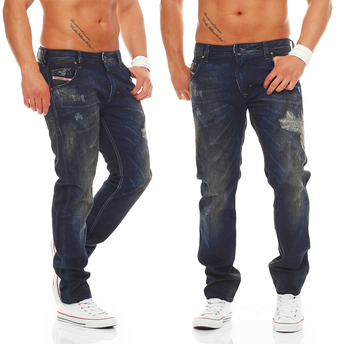 diesel jeans krayver herren regular slim carrot hose dna mutation kollektion neu ebay. Black Bedroom Furniture Sets. Home Design Ideas