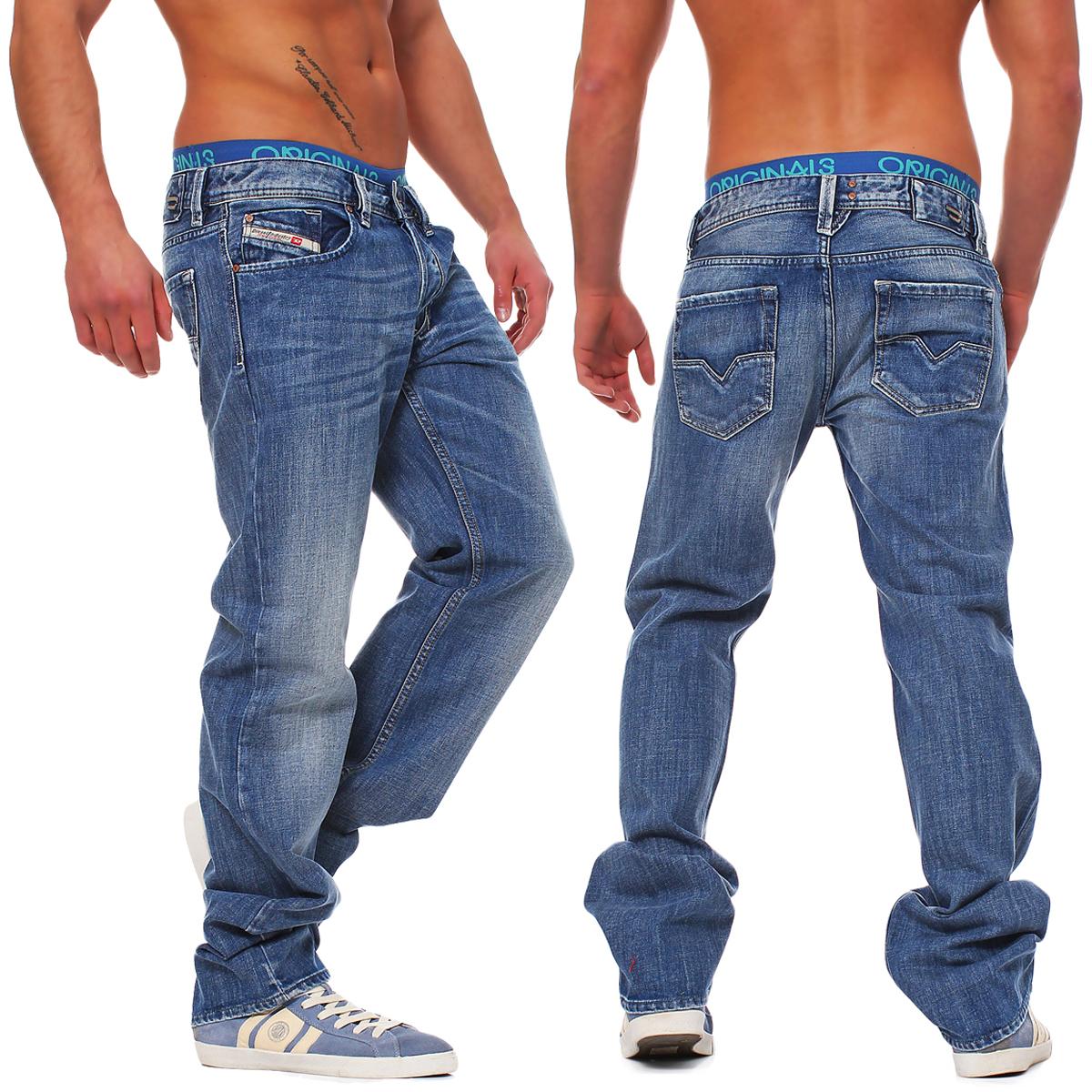 diesel jeans larkee regular straight blau l30 l32 l34 l36. Black Bedroom Furniture Sets. Home Design Ideas