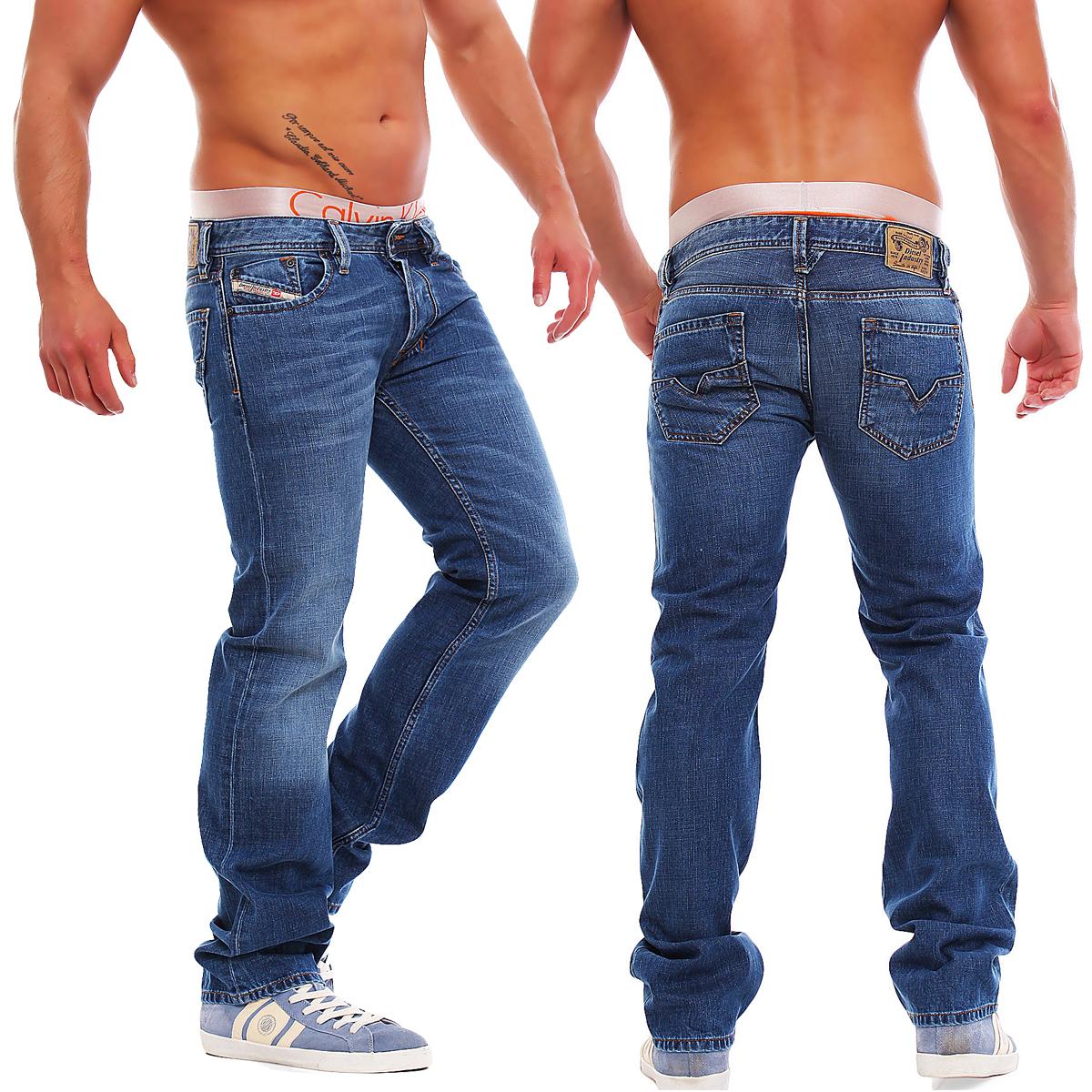 diesel jeans larkee regular straight hose blau l30 l32 l34. Black Bedroom Furniture Sets. Home Design Ideas