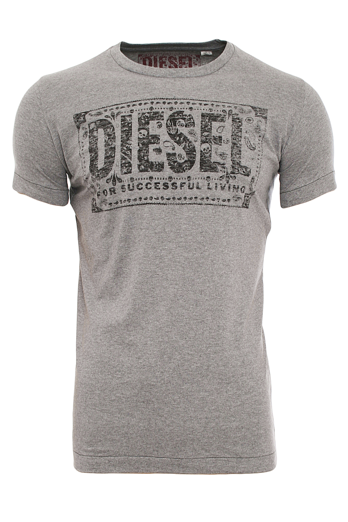 diesel t nuente rs herren kurzarm t shirt mit motiv 3. Black Bedroom Furniture Sets. Home Design Ideas