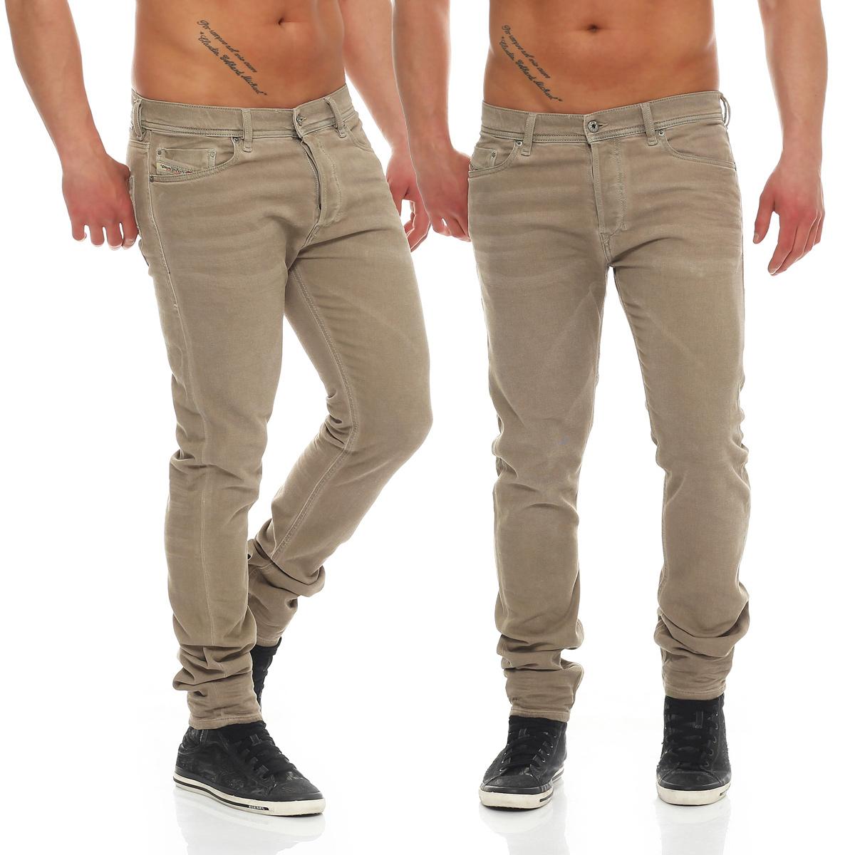 diesel jeans tepphar 0850y herren hose slim carrot beige. Black Bedroom Furniture Sets. Home Design Ideas