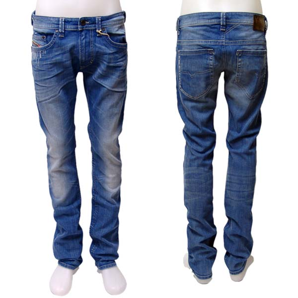 herren diesel jeans thavar wash 8w7 008w7 mittelblau. Black Bedroom Furniture Sets. Home Design Ideas