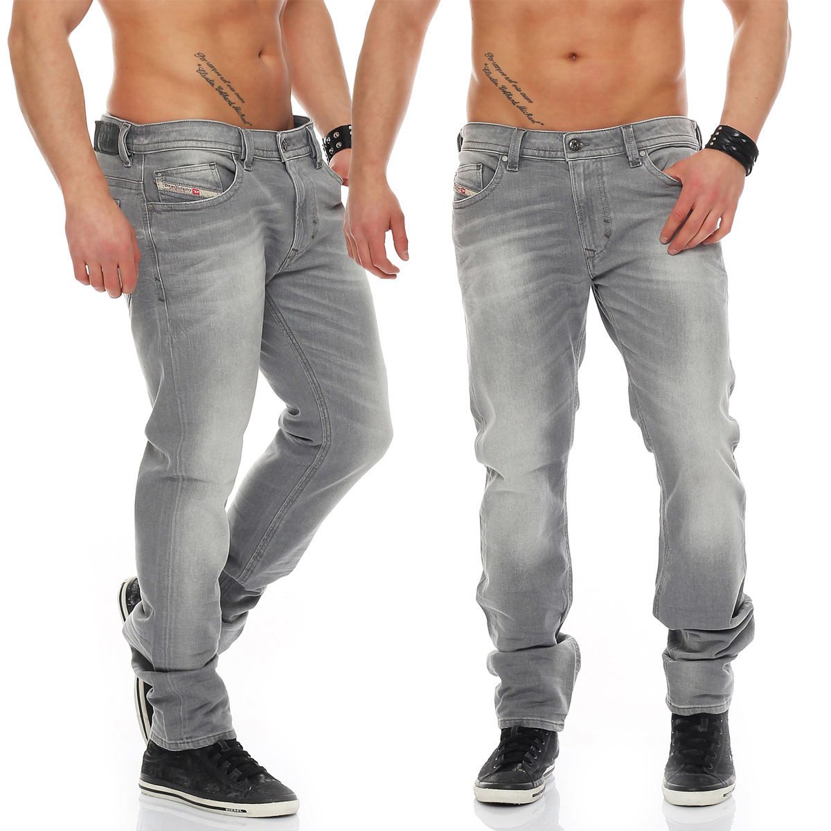 diesel jeans thavar 0839n 839n herren hose r hrenjeans hellgrau neu wow ebay. Black Bedroom Furniture Sets. Home Design Ideas