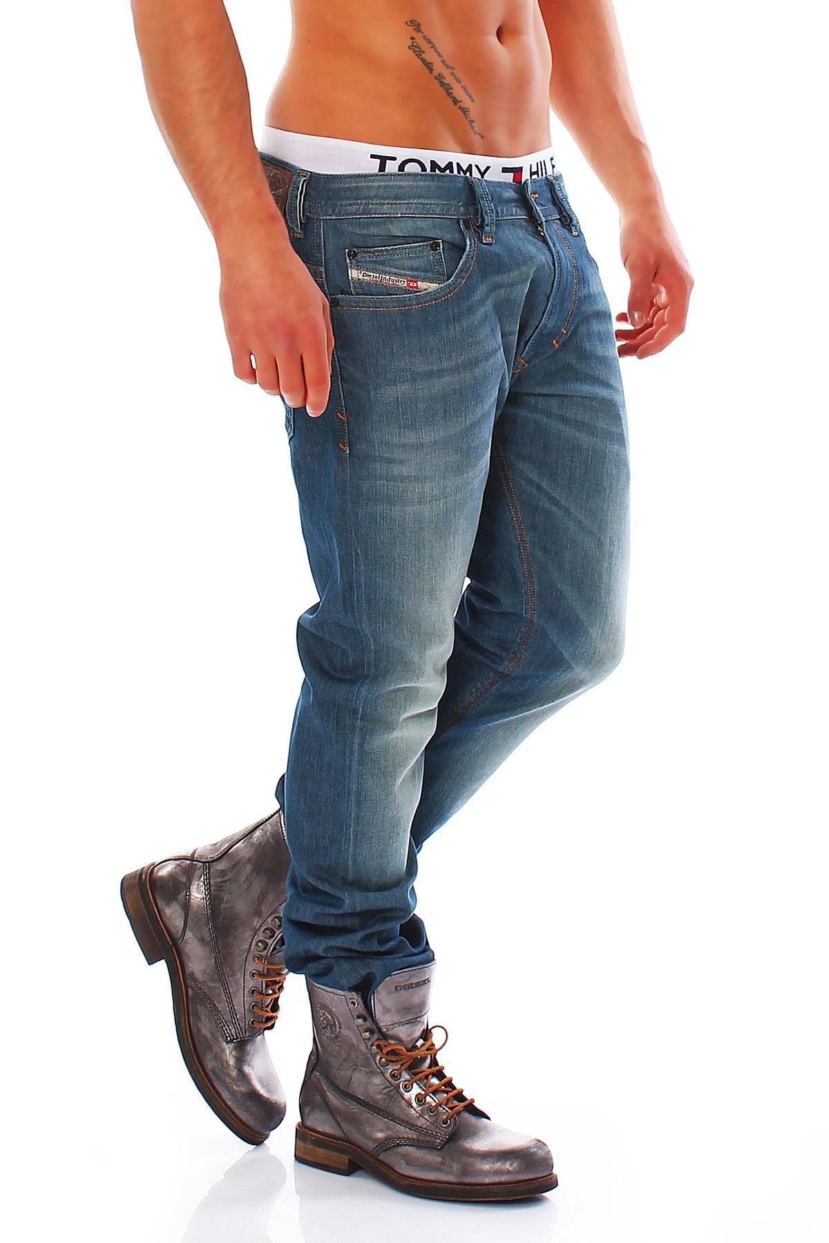 diesel jeans thavar mens trousers slim skinny jeans new