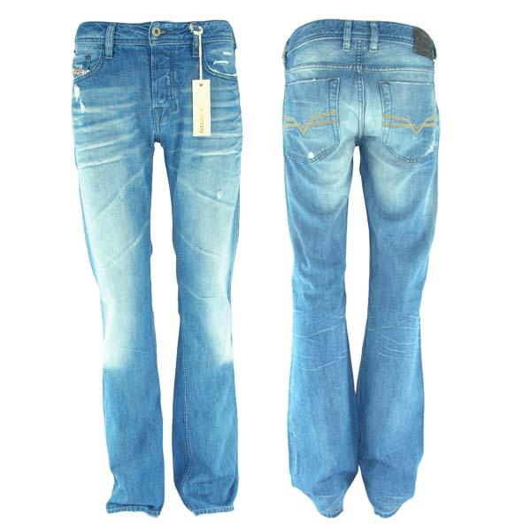 herren diesel denim jeans zatiny hose regular bootcut ebay. Black Bedroom Furniture Sets. Home Design Ideas