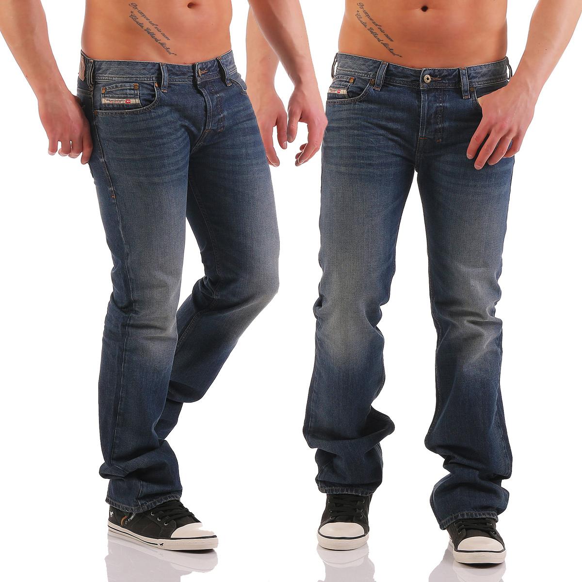 diesel herren jeans zatiny 0857h 857h boot cut hose regular bootcut blau neu wow ebay. Black Bedroom Furniture Sets. Home Design Ideas