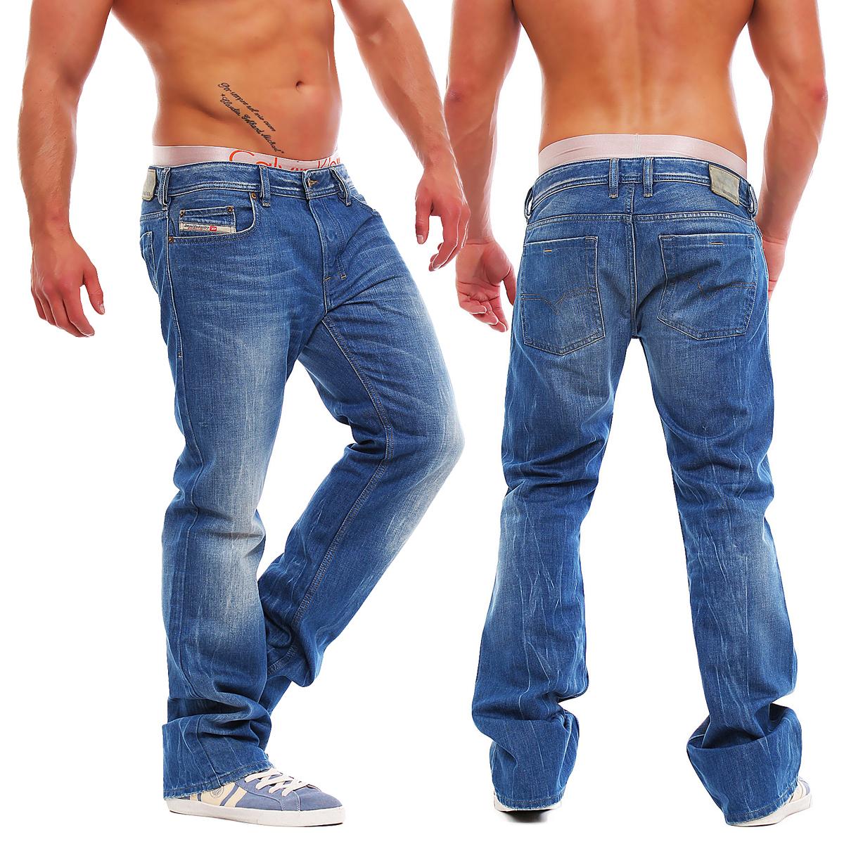 diesel zatiny 0888b 888b herren jeans hose regular bootcut neu