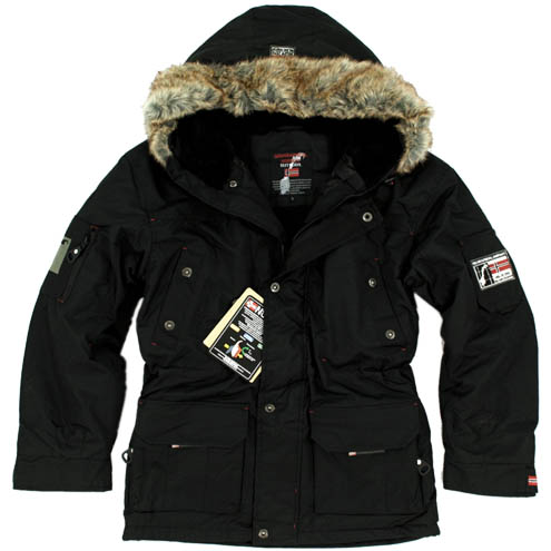 geographical norway warm lined men's alaska winter jacket