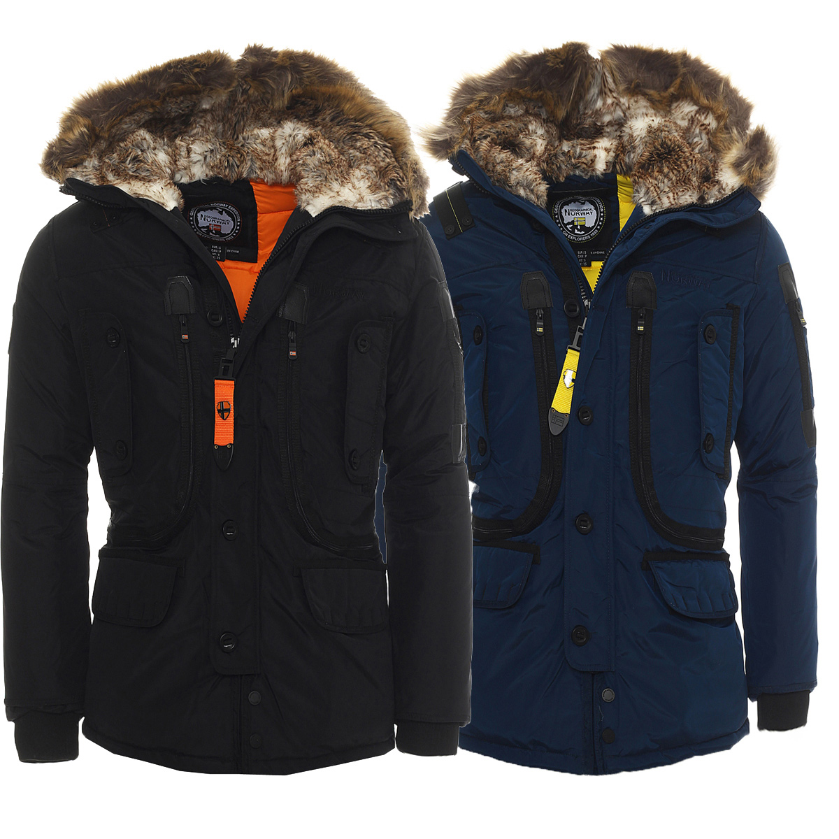 geographical norway warm lined alaska men 39 s winter jacket parka new ebay. Black Bedroom Furniture Sets. Home Design Ideas