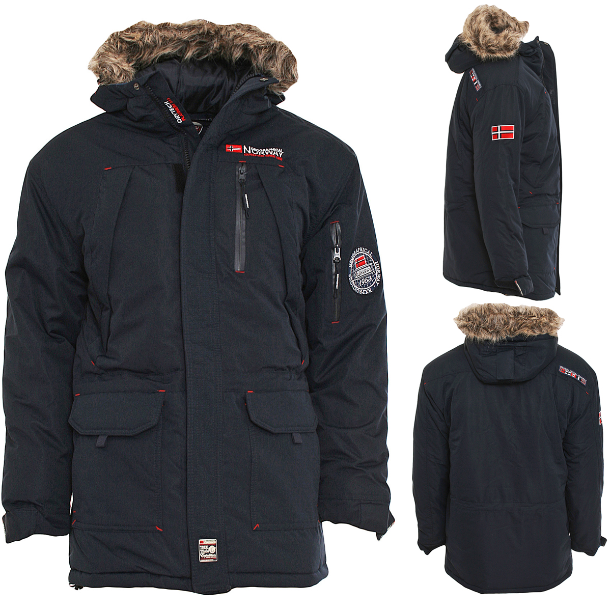 geographical norway herren winterjacke new donnuts winter. Black Bedroom Furniture Sets. Home Design Ideas