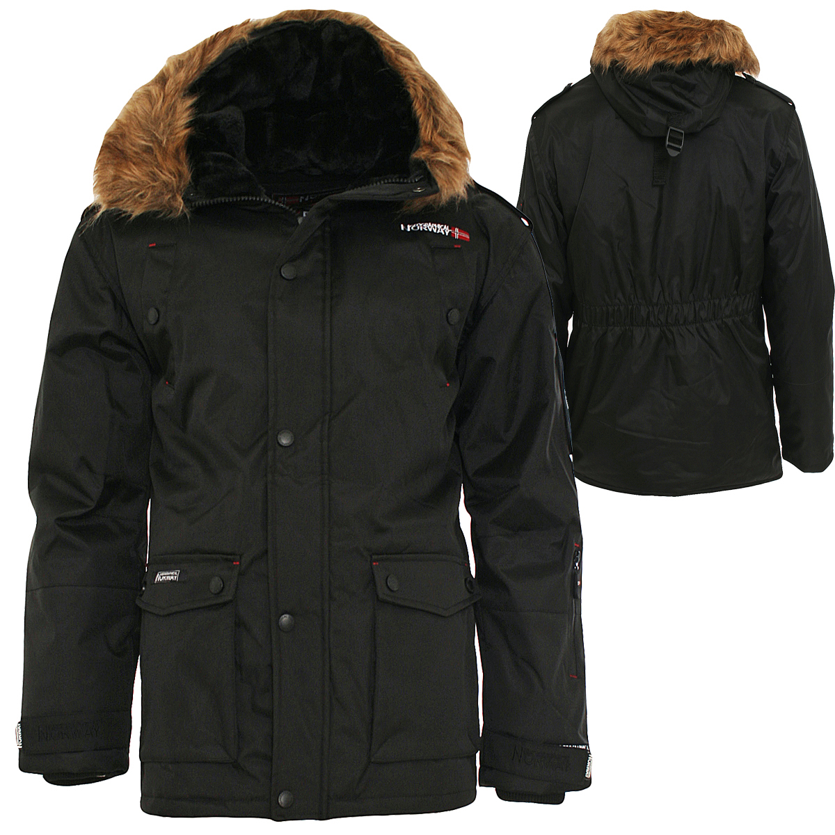 geographical norway men 39 s winter jacket blister longman winter parka jacket ebay. Black Bedroom Furniture Sets. Home Design Ideas