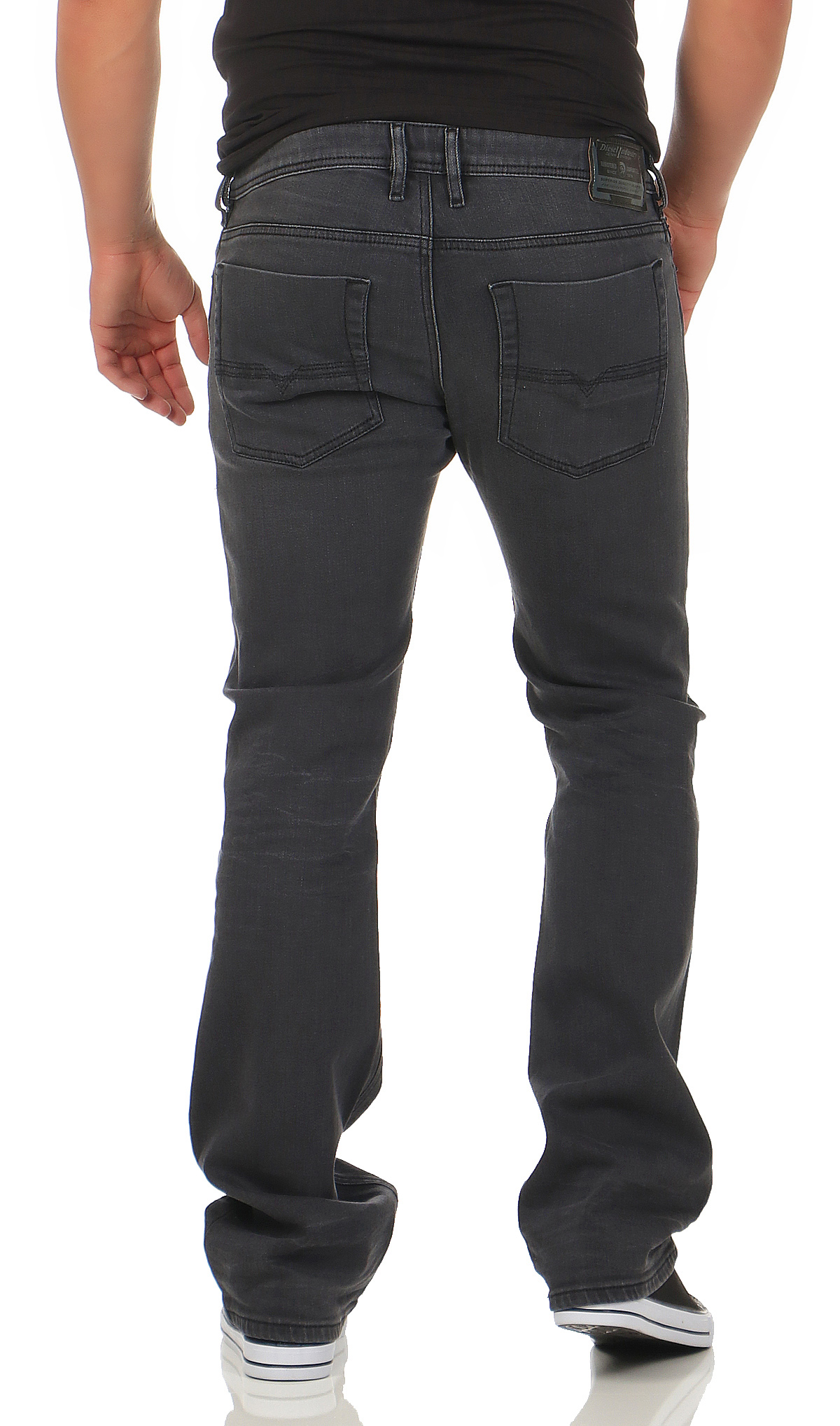 diesel herren jeans zatiny 0859x boot cut stretch hose regular bootcut grau neu ebay. Black Bedroom Furniture Sets. Home Design Ideas