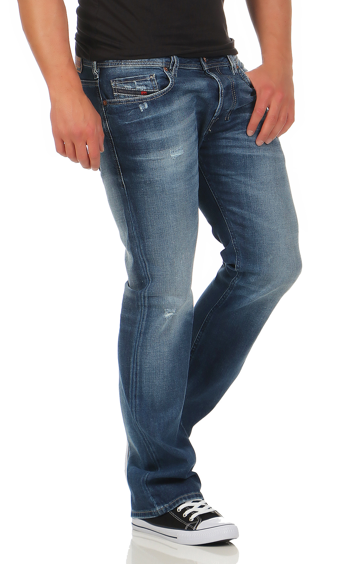 diesel herren jeans zatiny 084dd boot cut stretch hose regular bootcut blau neu ebay. Black Bedroom Furniture Sets. Home Design Ideas