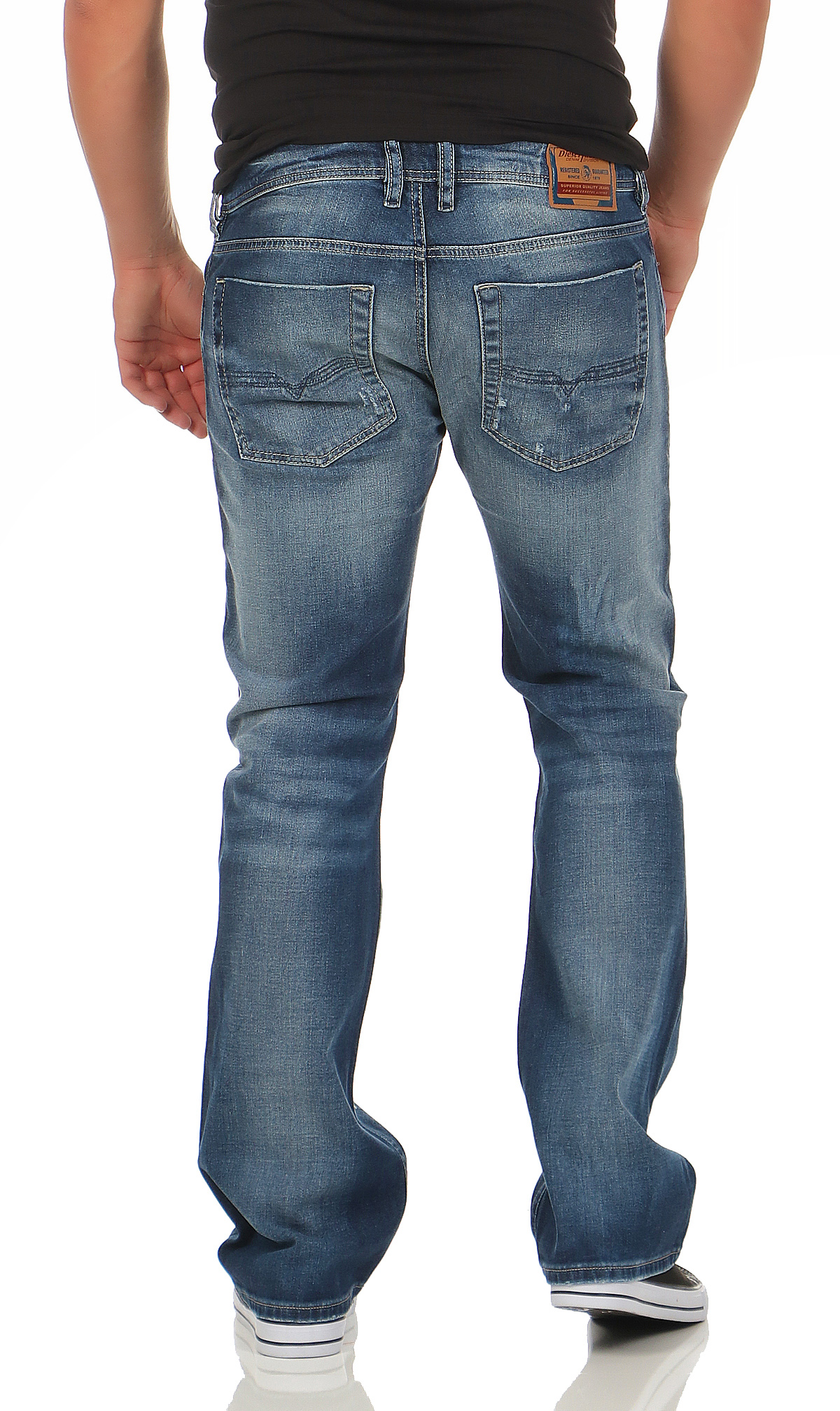 diesel herren jeans zatiny 084dd boot cut stretch hose regular bootcut blau neu ebay. Black Bedroom Furniture Sets. Home Design Ideas
