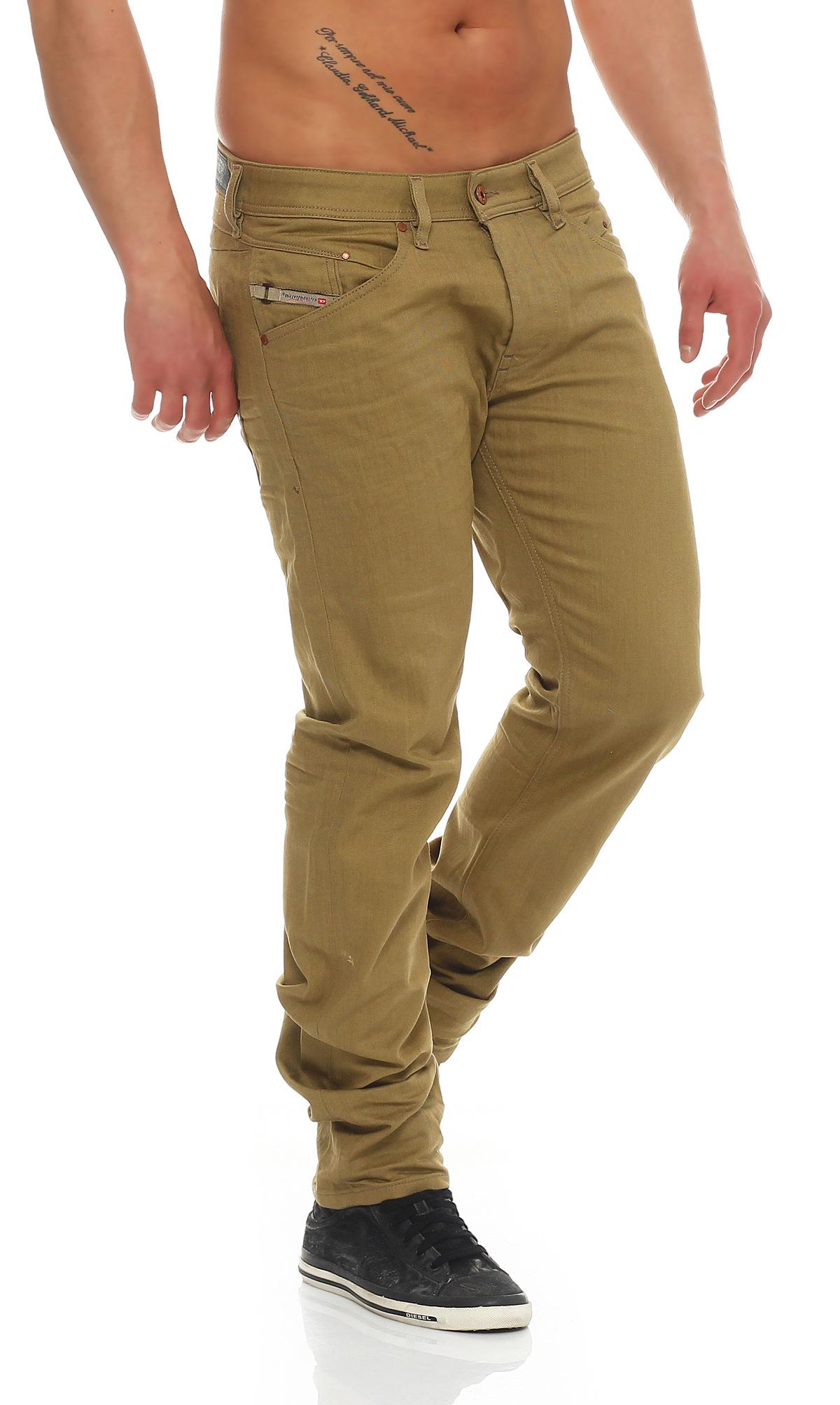 b43bda154f47 Diesel Jeans Belther 0847E Men s Trousers Regular Slim Tapered White ...