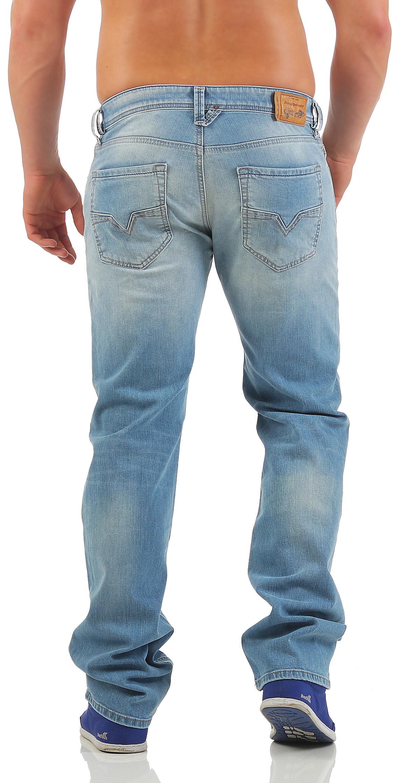 diesel jeans larkee herren hose regular straight hellblau. Black Bedroom Furniture Sets. Home Design Ideas