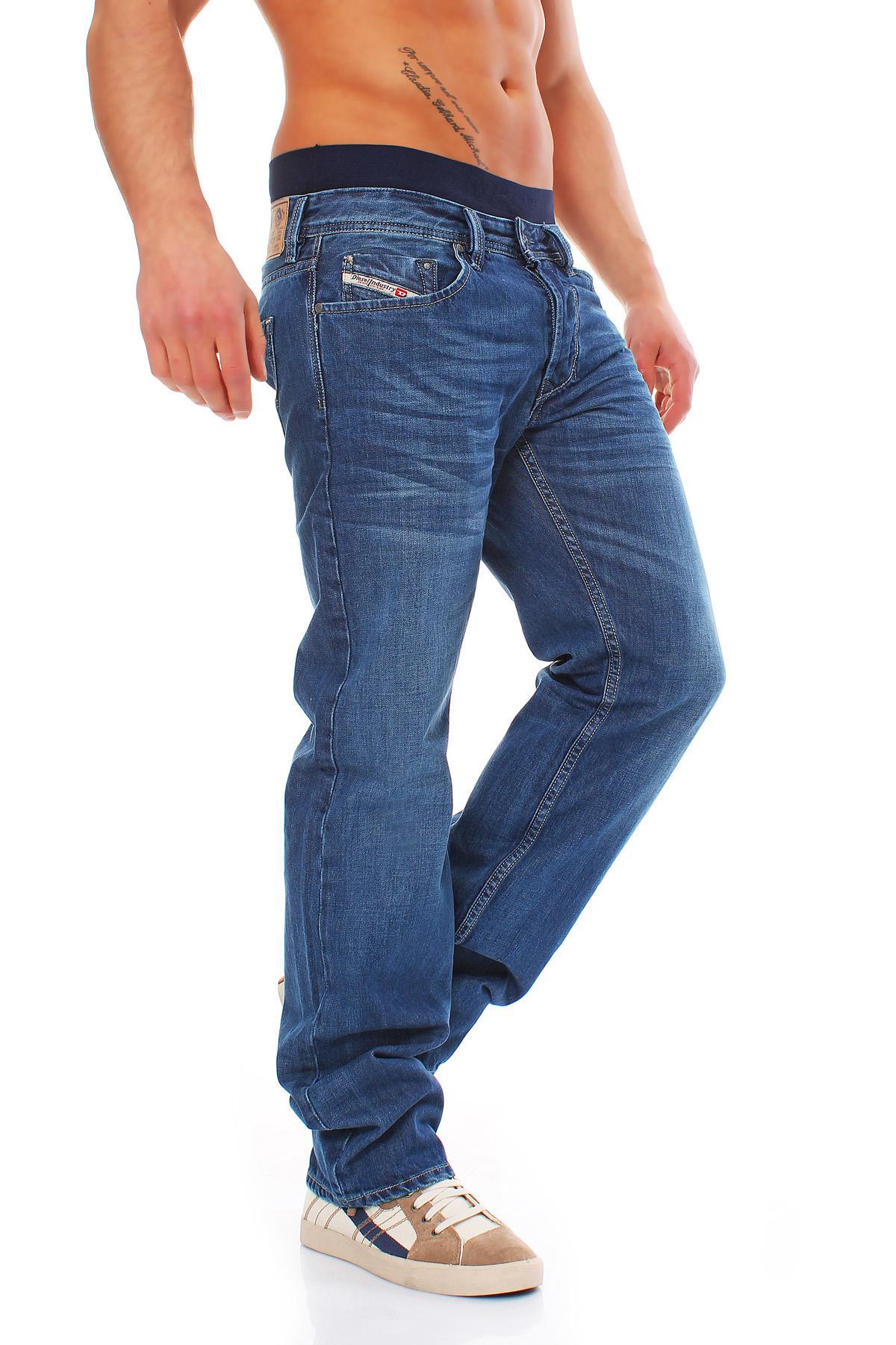 4fc8e18d Details about Diesel Jeans Larkee 008xr 8xr Mens Pants Regular Straight  Blue New