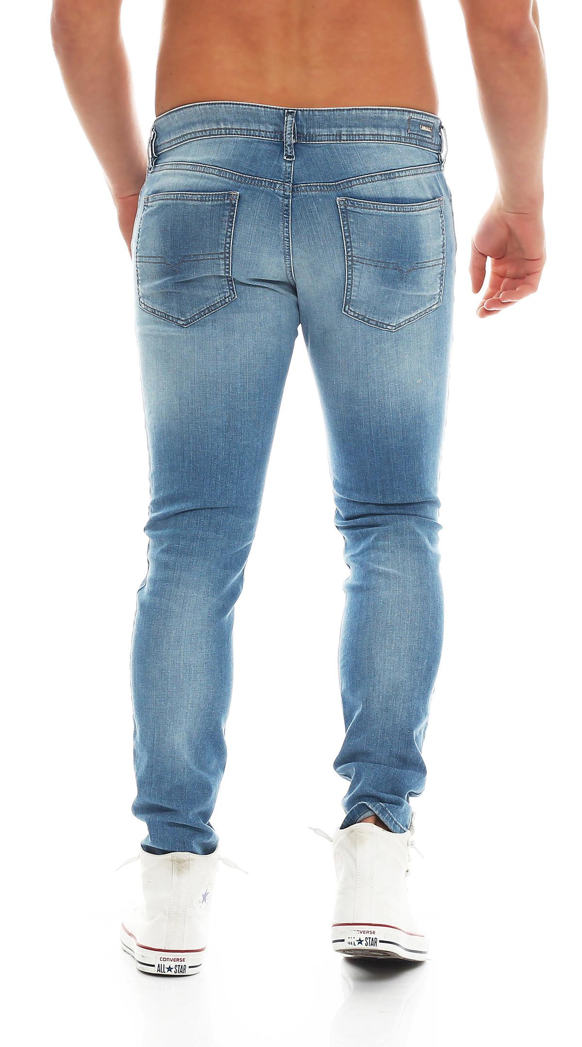 diesel jeans stickker 0850t herren hose super slim skinny. Black Bedroom Furniture Sets. Home Design Ideas