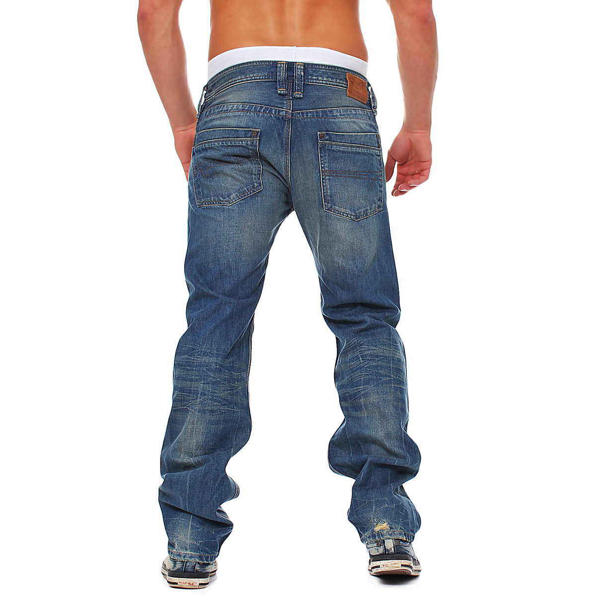 f7fbb20b Details about Diesel Jeans Timmen 0802E 802E Mens Pants Regular Straight  Blue USED LOOK NEW