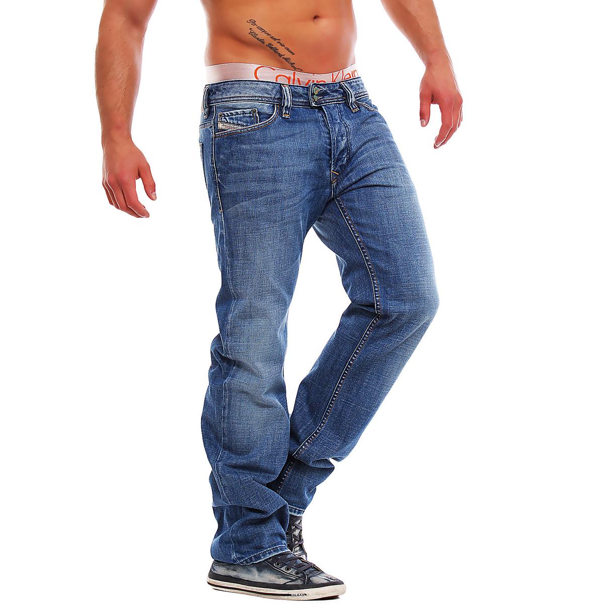 diesel jeans viker r box 008at 8at herren hose regular straight blau ebay. Black Bedroom Furniture Sets. Home Design Ideas