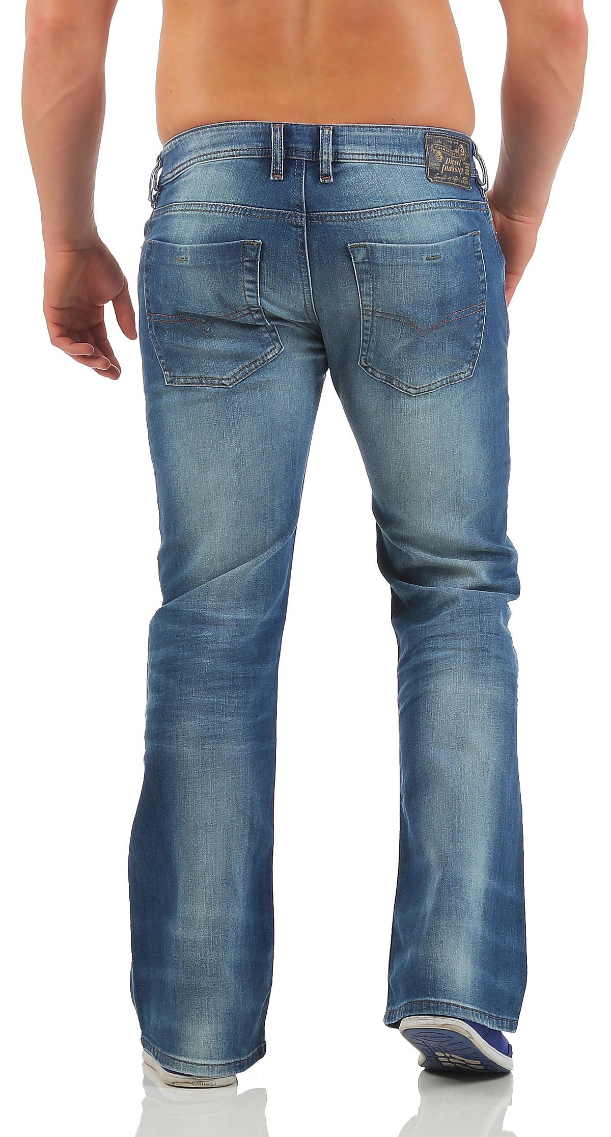 diesel jeans zathan herren hose regular bootcut weites. Black Bedroom Furniture Sets. Home Design Ideas