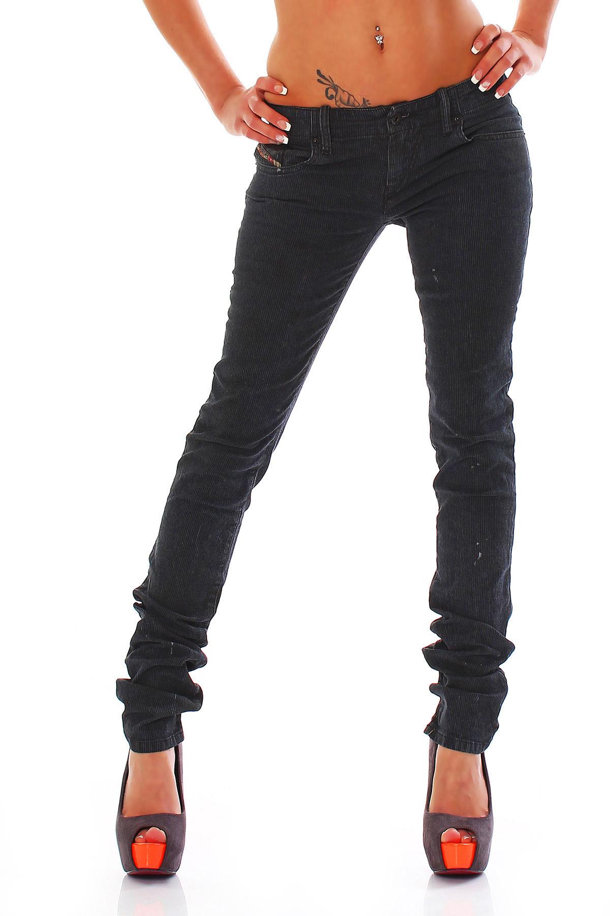 d05ab601 Details about Diesel Jeans Grupee 0660T Super Slim Skinny Blue Low Waist Skinny  Jeans NEW