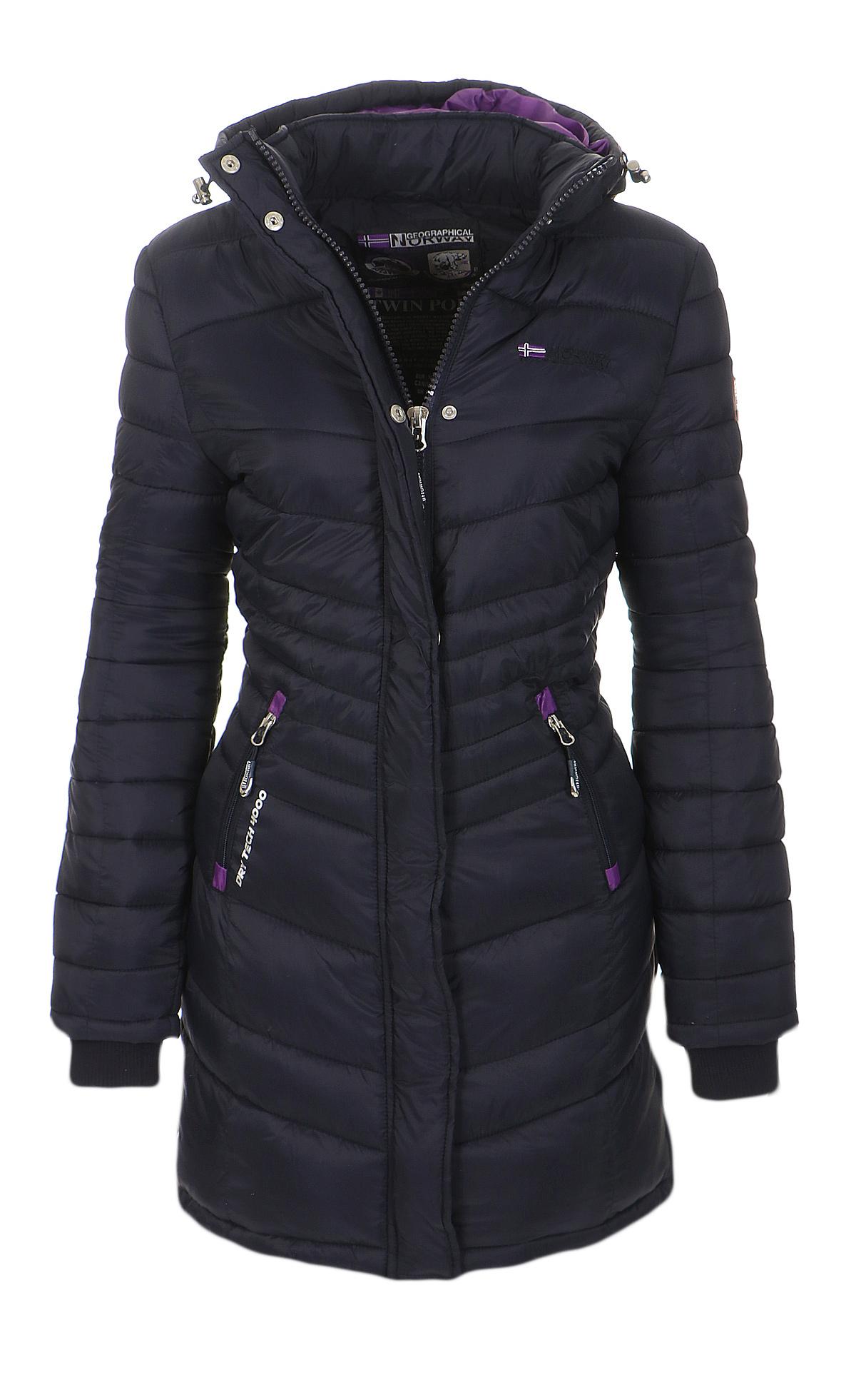 geographical norway damen winter jacke mantel gef ttert winterjacke parka lang ebay