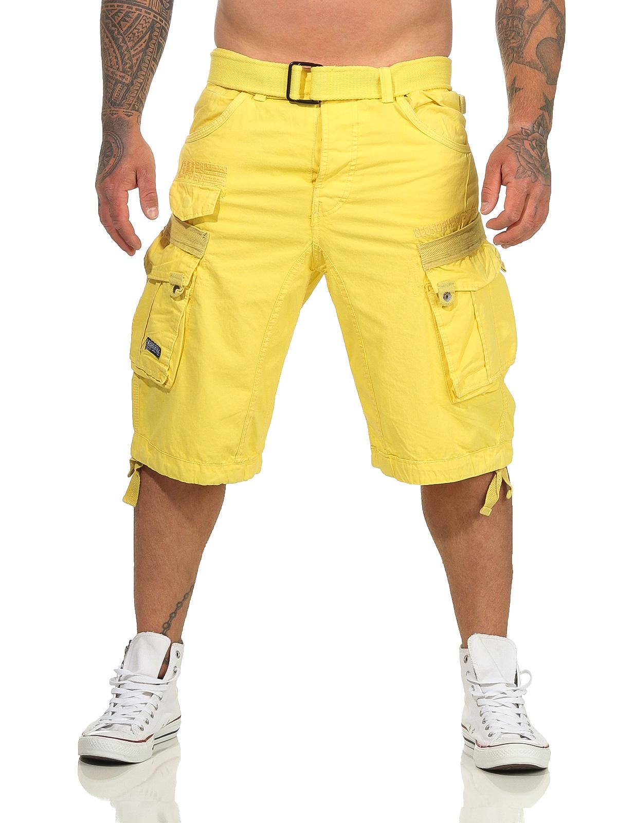 Geographical Norway Cortos Cargo Pantalones Cortos Bermudas Con Cintur/ón Pantalones cortos Hunter en el Bundle con UD PA/ÑUELO