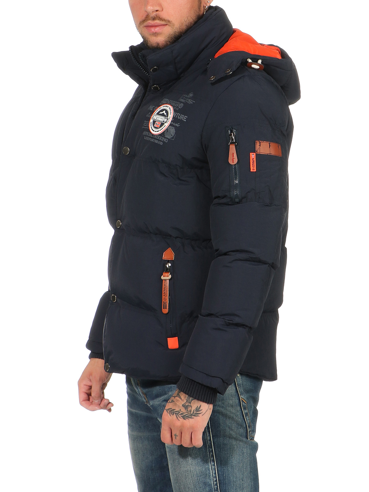Geographical Norway warme gefütterte Winter Jacke bomber Outdoor Winterjacke