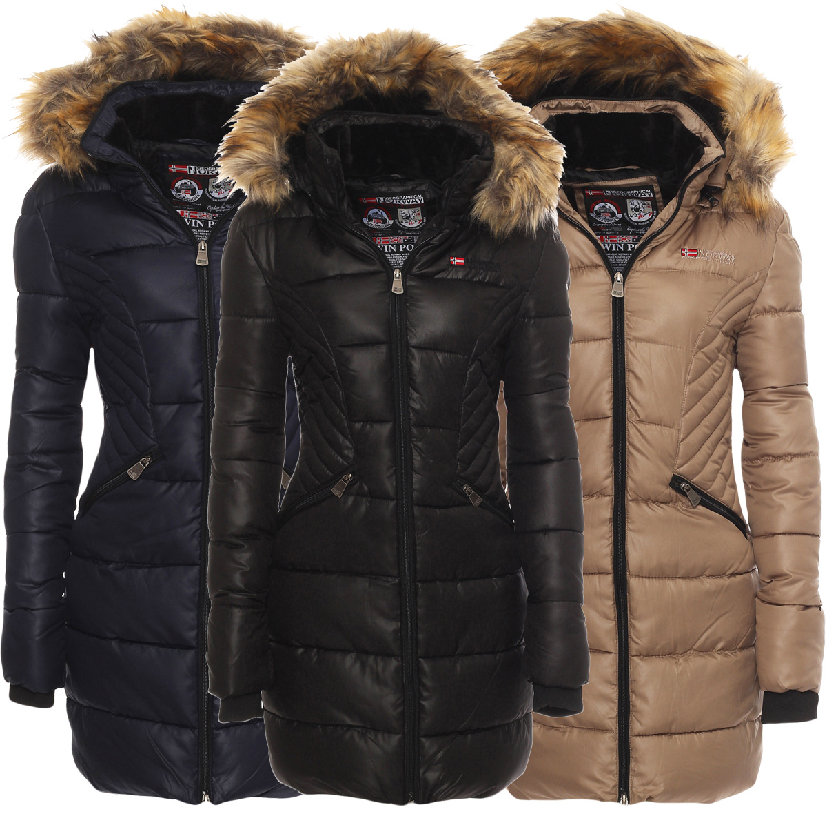 Geographical norway damen winterjacke