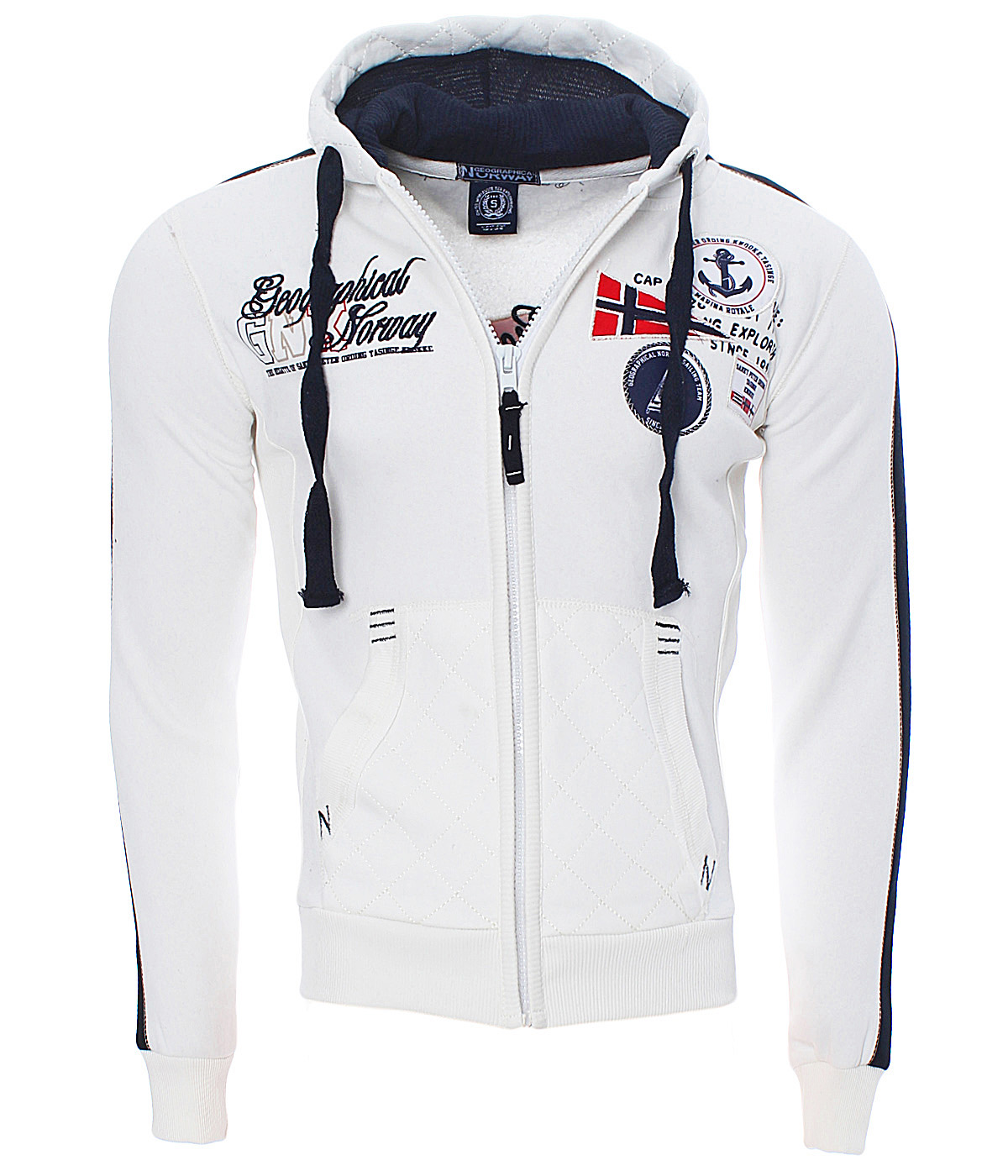 Geographical Norway Men Winter Jacket Sweatshirt Pullover Polo Hoodie Fatal New