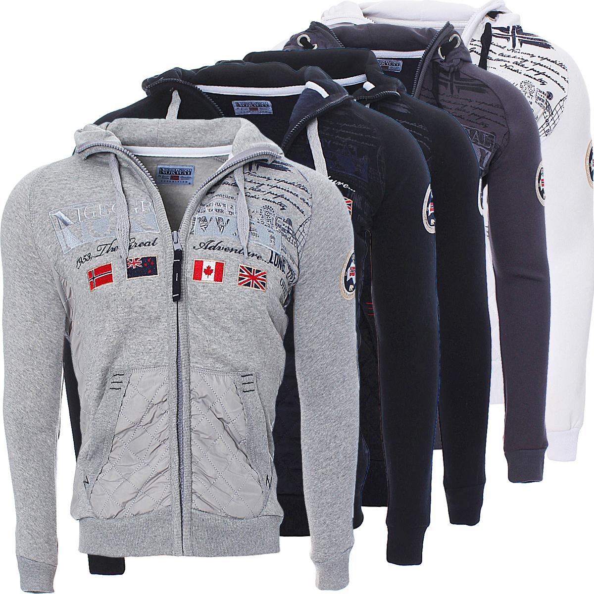 Geographical Norway Men/'s Golfstream Winter Jacket Sweatshirt Pullover Polo