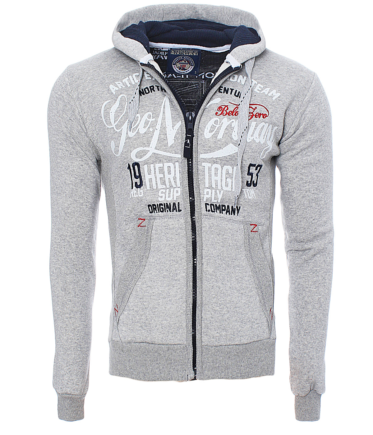 Geographical Norway Herren Winter Sweat Jacke Pullover Polo Hoodie Fatal Neu ✔