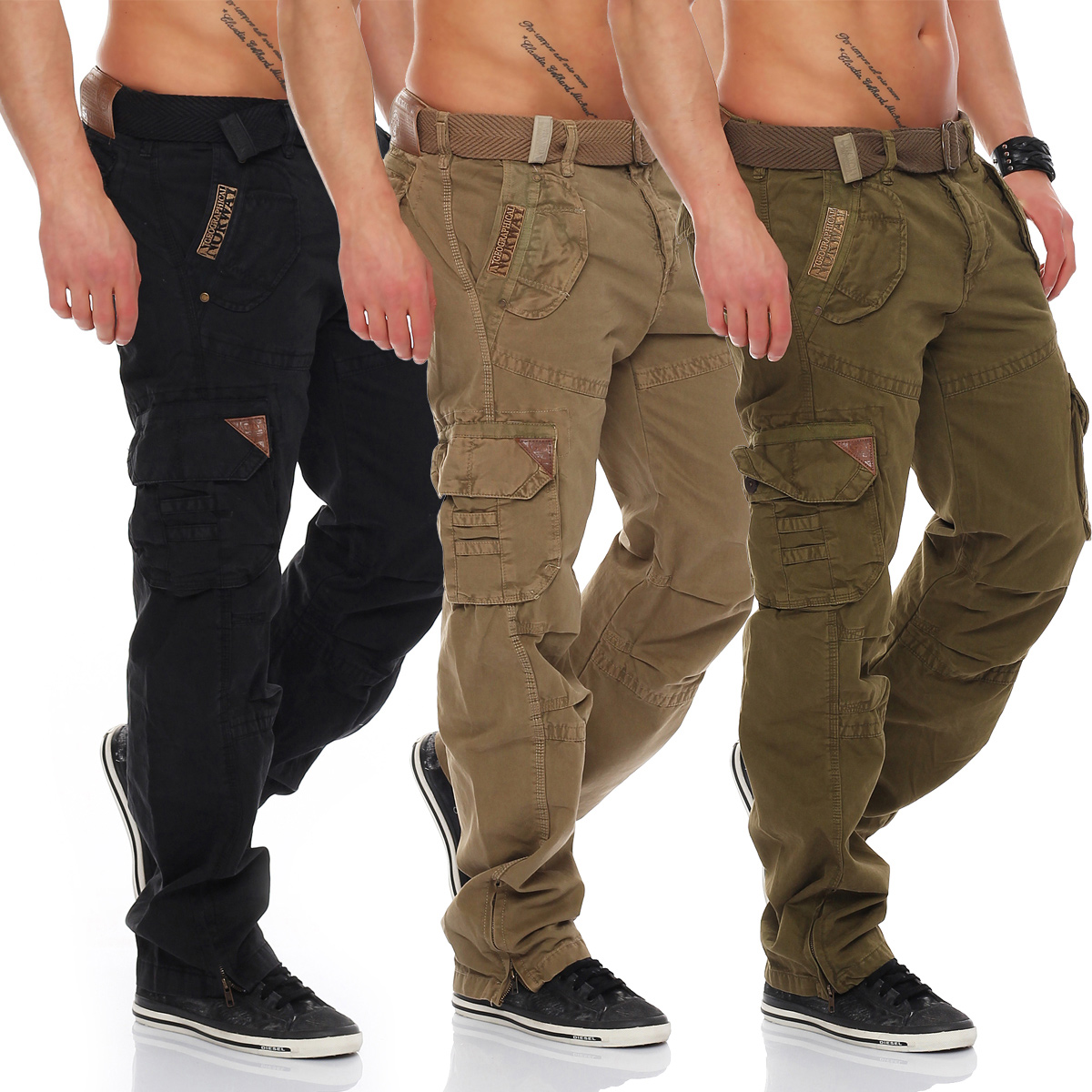 Geographical Norway Men/'s Trousers Cargo Shorts Leisure Army Pants