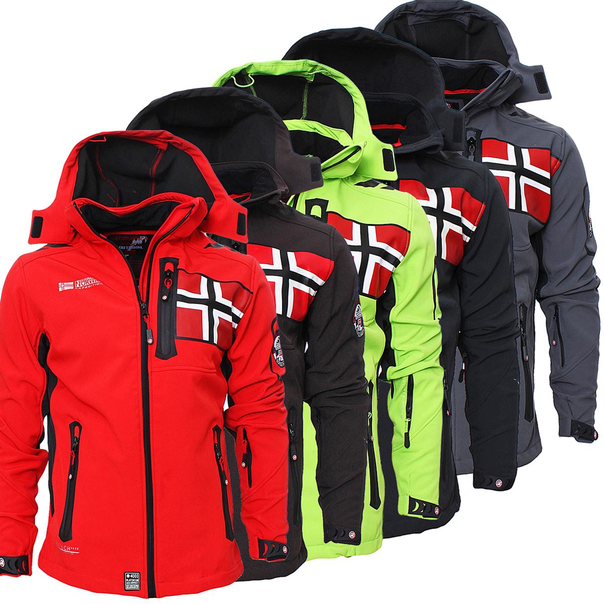 Details zu Geographical Norway Rova Men Herren Softshell Jacke Winterjacke S XXL