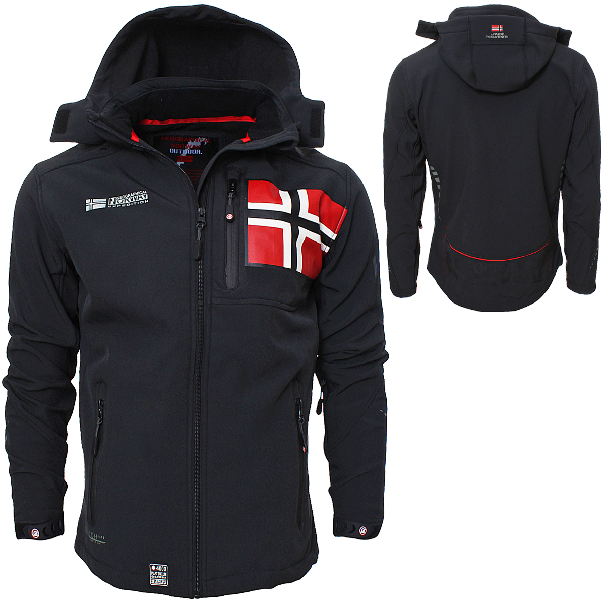 geographical norway rova men herren softshell jacke winterjacke s xxl ebay. Black Bedroom Furniture Sets. Home Design Ideas