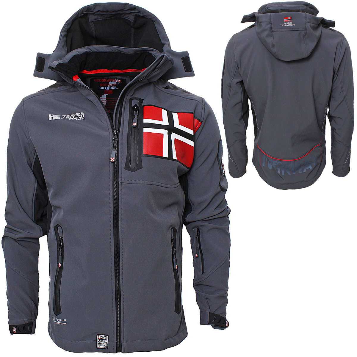 Geographical Norway Rova Uomo Giacca Softshell Uomo Giacca Invernale S-XXL