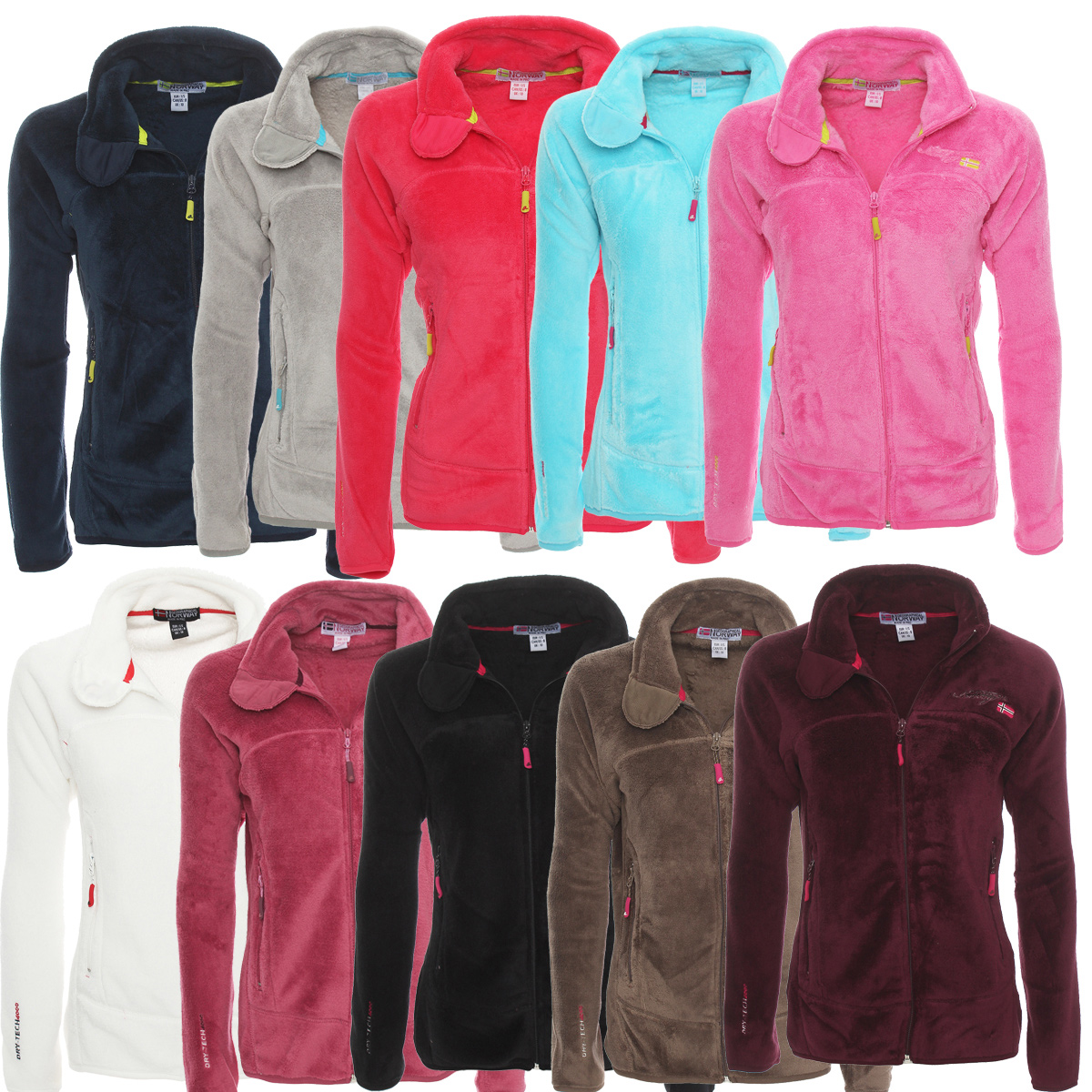 Geographical Norway Damen Fleece Jacke Fleecejacke Pullover